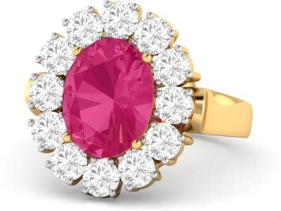 WearYourShine by PC Jewellers PC Jeweller The Jensine 18kt Diamond, Ruby Yellow Gold ring at flipkart
