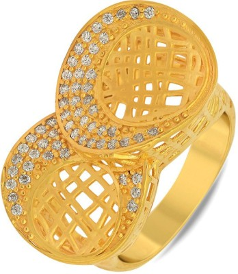 P.N.Gadgil Jewellers Two-Moon 22kt Yellow Gold ring(Yellow Gold Plated) at flipkart