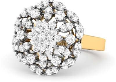 WearYourShine by PC Jewellers PC Jeweller The Grazinia 18kt Diamond Yellow Gold ring at flipkart