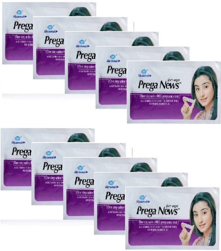 Mankind Prega news combo of 10 Pregnancy Test Kit(10 Tests)