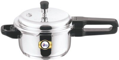 Apex Stainless Steel Polpular 5 L Pressure Cooker(Induction Bottom, Stainless Steel)