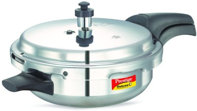Prestige Deluxe Plus Junior Aluminium 4 L Pressure Cooker (Induction Bottom, Outer Lid)