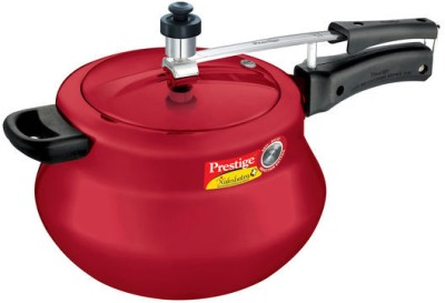 Prestige 11658 Aluminium 6.5 L Pressure Cooker (Induction Bottom,Inner Lid)