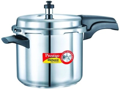 Prestige 20603 Deluxe Alpha Stainless Steel 3.5 L Pressure Cooker (Induction Bottom,Outer Lid)