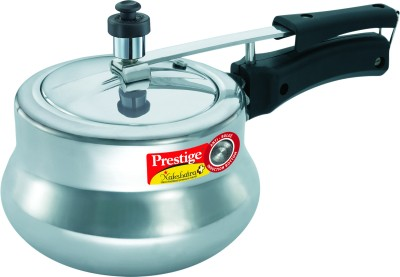 Prestige Nakshatra Plus Polished Handi Aluminium 3 L Pressure Cooker (Induction Bottom, Inner Lid)
