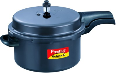Prestige Deluxe Plus 7.5 L Pressure Cooker(Induction Bottom, Hard Anodized)