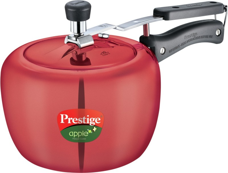 Prestige Apple Plus Aluminium 3 L Pressure Cooker(Induction Bottom, Aluminium)