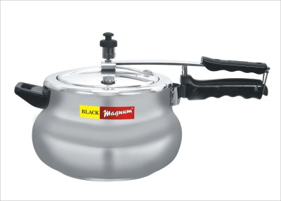Black Chef WIPM 5 Magnum Matki Aluminium 5.5 L Pressure Cooker (Induction Bottom,Inner Lid)