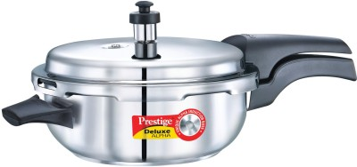 Prestige Deluxe SNR PAN Stainless Steel 4 L Pressure Cooker (Induction Bottom,Outer Lid)
