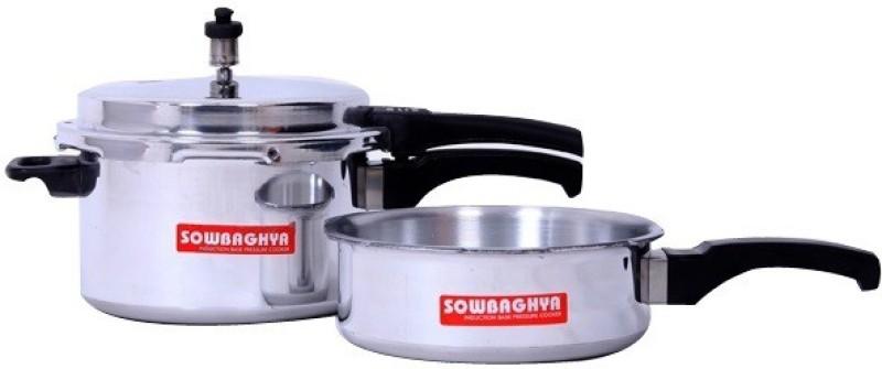 sowbaghya 5 L, 3 L Pressure Cooker & Pressure Pan(Induction Bottom, Aluminium)