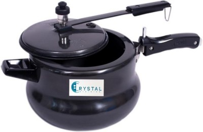 Crystal Cuisinier India Gold Hard Anodized Non Stick Induction Base Handi 5 L Pressure Cooker & Pressure Pan