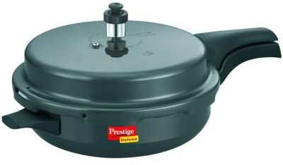 Prestige Hard Anodised Deluxe Plus Junior Aluminium 3 L Pressure Cooker (Induction Bottom, Outer Lid)