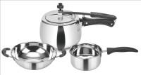 Kitchen Essentials 3 L Pressure Cooker(Induction Bottom, Aluminium) Flipkart