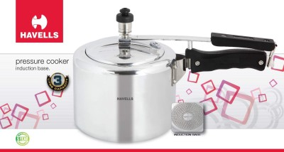 Havells Aluminium 3 L Pressure Cooker (Induction Base, Inner Lid)