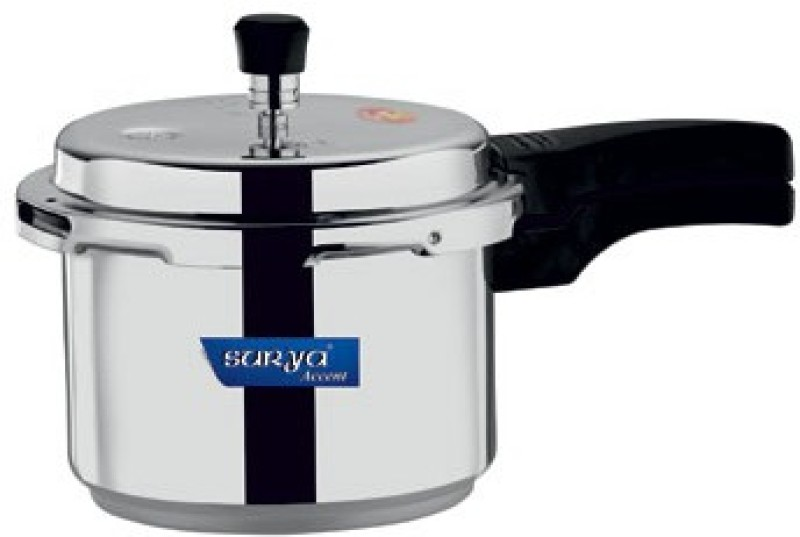 Surya Accent Induction Bottom 3 L Pressure Cooker(Induction Bottom, Aluminium)