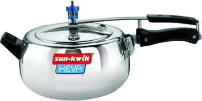 Sun-Kwik-Keva-Deluxe-Aluminium-3.5-L-Pressure-Cooker-(Inner-Lid)