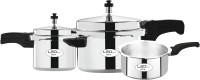 Leo Natura Eco + 2 L, 3 L, 5 L Pressure Cooker(Induction Bottom, Aluminium)