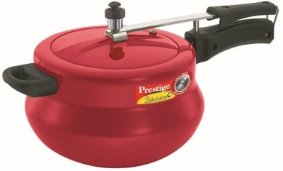 Prestige Nakshatra Plus Red Handi Aluminium 5 L Pressure Cooker (Induction Bottom, Inner Lid)