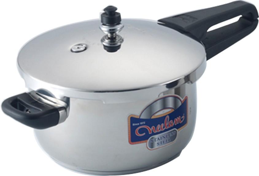 Neelam Stainless Steel Pressure Cooker 5.5ltrs 5.5 L Pressure Cooker Flipkart