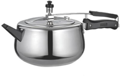Quba Aluminium 5 L Pressure Cooker (Induction Bottom,Inner Lid)