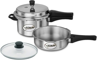 Atalso 5 L Pressure Cooker & Pressure Pan(Induction Bottom, Stainless Steel)