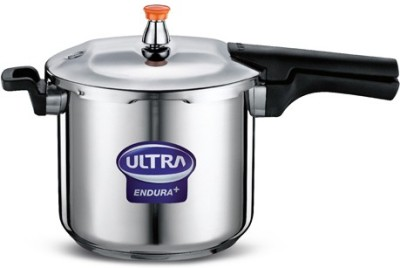Elgi Ultra Stainless Steel 6.5 L Pressure Cooker (Induction Bottom, Outer Lid)