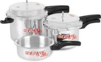 SuryaAccent Super Saver combo pack 5 L, 3 L, 2 L Pressure Cooker(Aluminium)