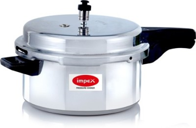 Impex IPC 501 Aluminium 5 L Pressure Cooker (Induction Bottom,Outer Lid)