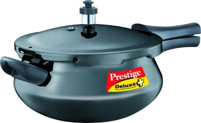 Prestige Deluxe Plus Hard Annodised Pressure Handi Aluminium 4.8 L Pressure Cooker (Induction Bottom, Outer Lid)