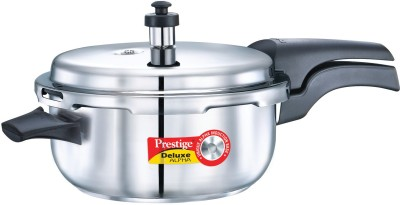 Prestige Deluxe Deep PAN Stainless Steel 5 L Pressure Cooker (Induction Bottom,Outer Lid)
