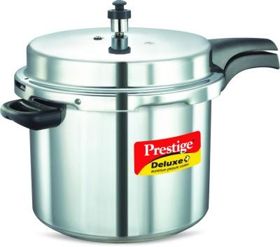 Prestige Deluxe Plus Aluminium 10 L Pressure Cooker (Induction Bottom, Inner Lid)