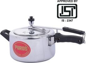 Puros Aluminium 4 L Pressure Cooker (Inner Lid)