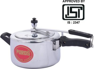 Puros ISI Marked Aluminium 2 L Pressure Cooker (Inner Lid)