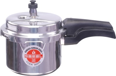Saral FS00000299 Aluminium 5 L Pressure Cooker (Induction Bottom,Outer Lid)