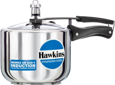 Hawkins Stainless Steel Tall 3 L Pressure Cooker(Induction Bottom, Stainless Steel)