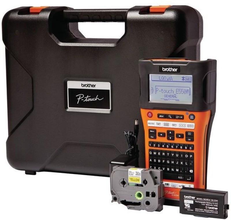 Brother PT-E550W Single Function Printer(Black, Orange)