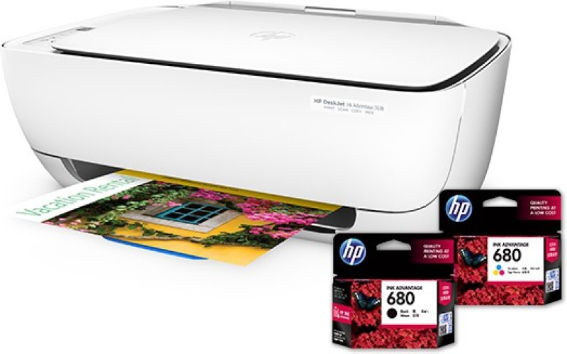 HP DeskJet Ink Advantage 3636 All-in-One Printer(White)