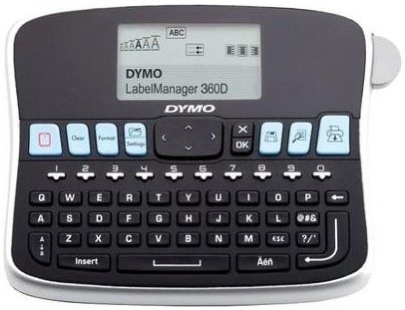 Dymo Rechargeable_360D Single Function Printer(Black)