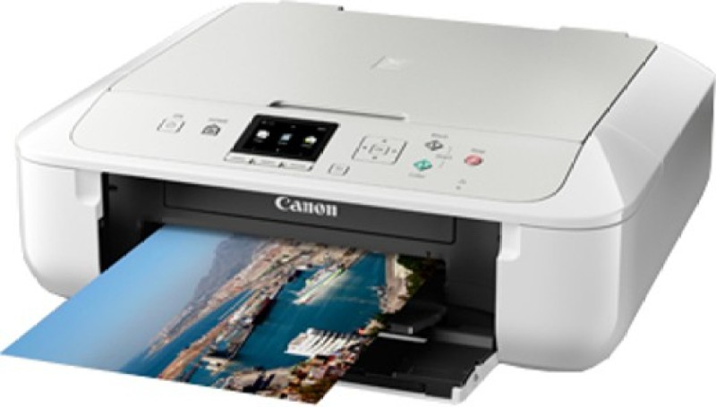 Canon Pixma MG5770 Wireless Multi-function Printer(White, Silver)