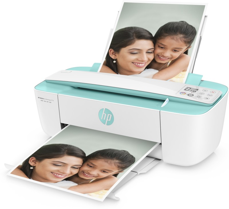HP DeskJet Ink Advantage 3776 (Wireless) Multi-function Printer(White, Green)