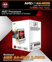 AMD 3.2 GHz FM2 A4 4020 Processor(Metal)