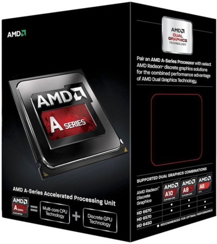 AMD 3.9 GHz FM2 A6 6400K Processor(Black)