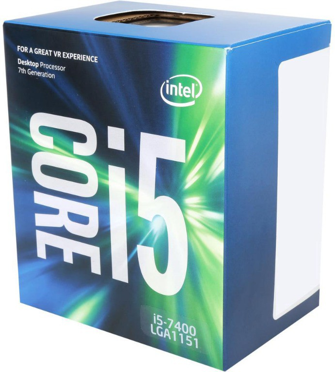 Intel 3.0 GHz LGA 1151 core i 5 7400 Processor(Blue)