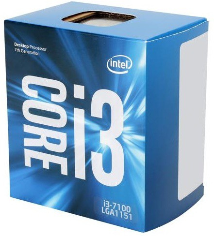 Intel 3.9 GHz LGA 1151 core i 3 7100 Processor(Silver)