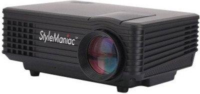 Style Maniac High Quality Hybrid 800 lm LED Corded Portable Projector(Black)