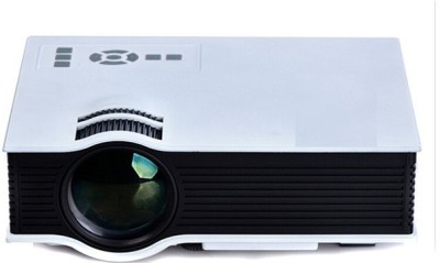 Play PP 004 1800 lm LED Corded & Cordless Portable Projector(White)