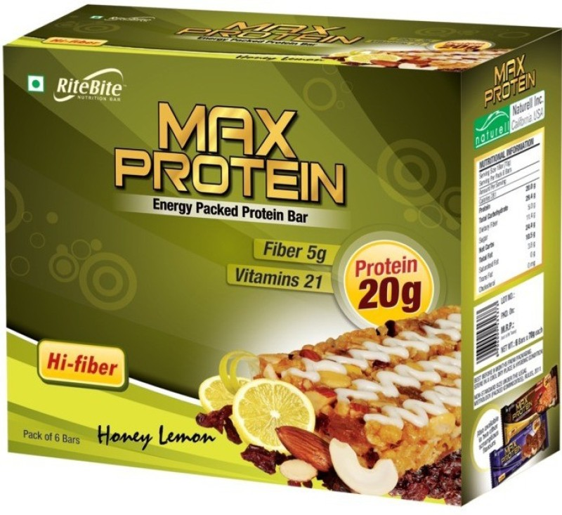 Ritebite Meal replacement Protein Bar Protein Bars(420 g, Honey Lemon)