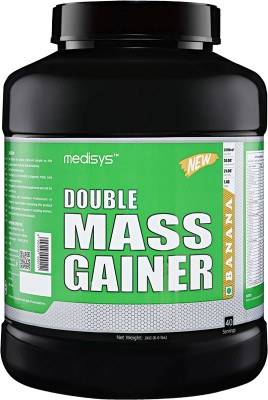 Medisys Double Mass Gainer - Banana - 3Kg Whey Protein(3 kg, Banana)