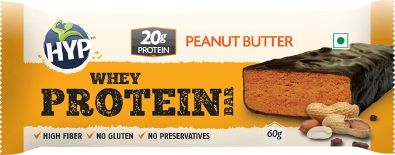 HYP Peanut Butter (Box of 6) Protein Bars(60 g, Chocolate, Peanut Butter)