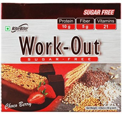 Ritebite Rite Bite work out Bar Protein Bars(50 g, Choco Berry)